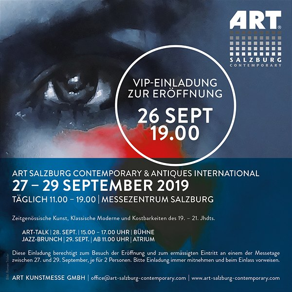 ART SALZBURG CONTEMPORARY, 27. - 29. September 2019