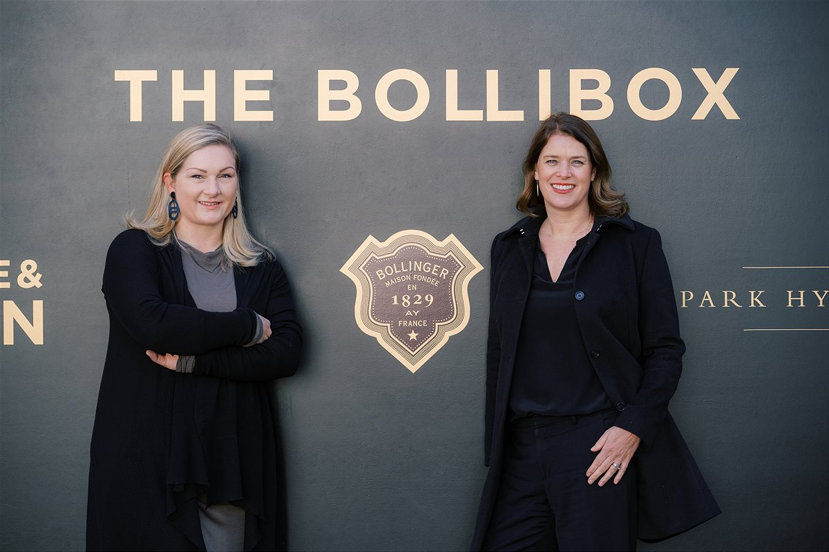 The Bollibox - Katharina Wolf von Kate&Kon links - Frau Monique Dekker Park Hyatt Vienna rechts